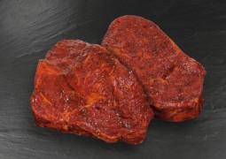 Entrecote-Steaks mariniert...
