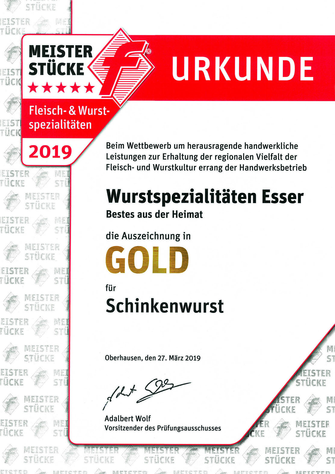 Meisterstücke des Fleischerhandwerks NRW 2019