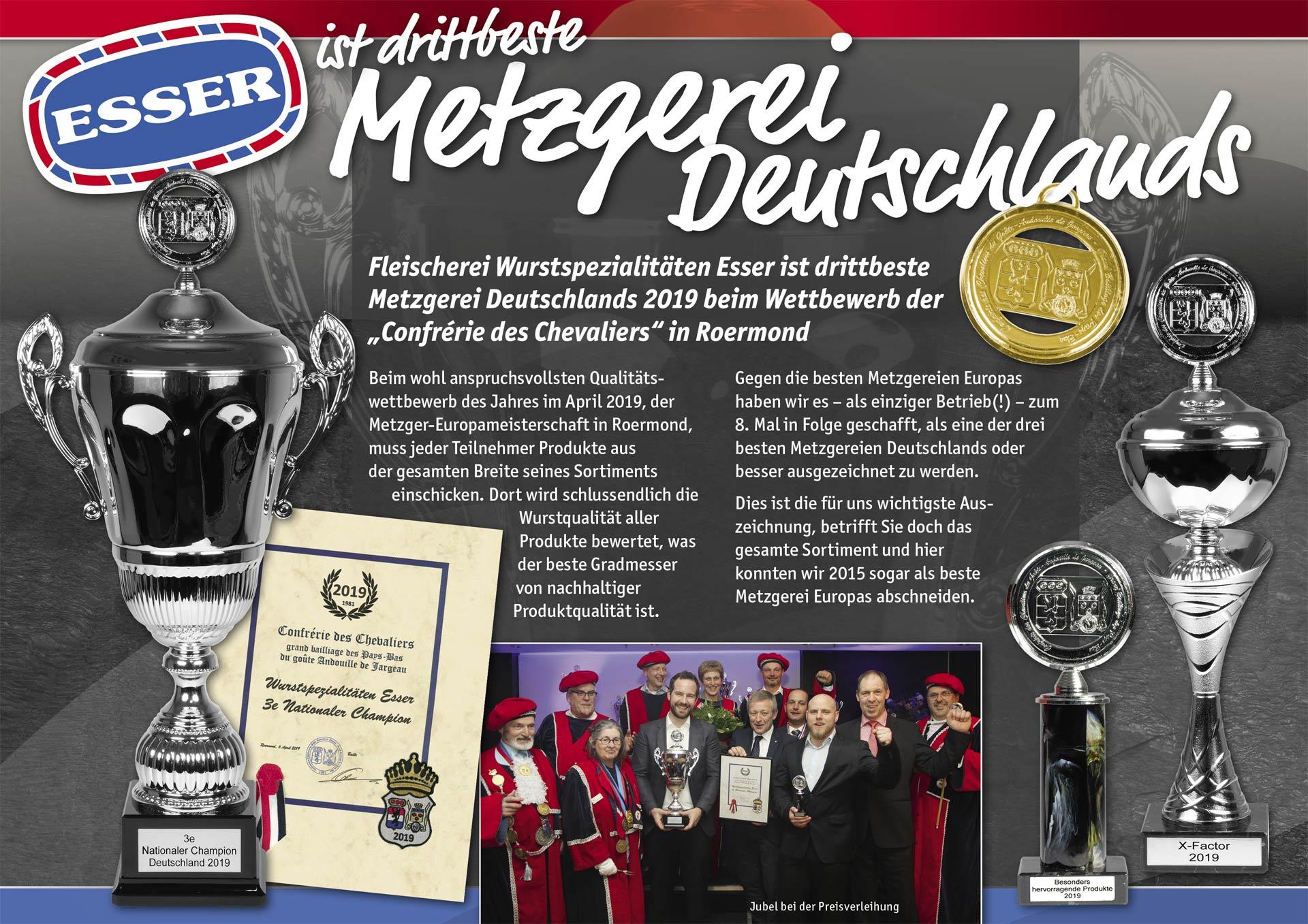 Drittbeste Metzgerei Deutschlands 2019