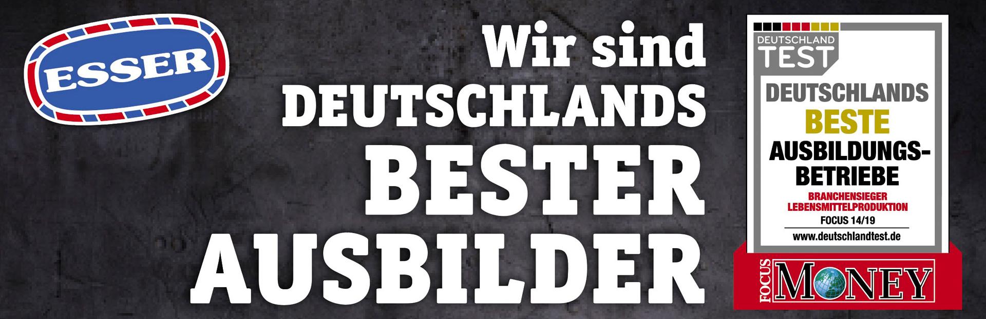 Wurstspezialitäten ESSER - Deutschlands bester Ausbilder